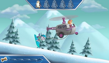 Картинка к игре Зимнее приключение щенка