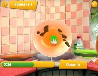 Картинка к игре Барбоскины, Лиза моет посуду