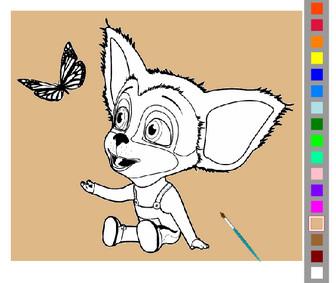 Картинка к игре Барбоскины раскраска