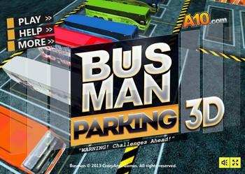 Парковка автобуса в 3д