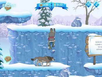 Картинка к игре Бродилка Холодное сердце, Анна и Кристофф