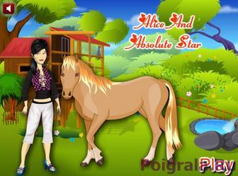 Игра Алиса и ее лошадь
