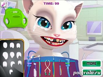 Картинка к игре Том и Анжела лечат зубы