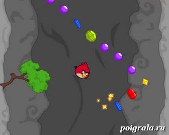 Картинка к игре Злые птички: собери алмазы