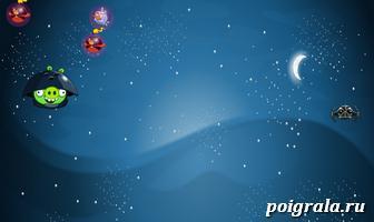 Картинка к игре Злые птички, космическая атака