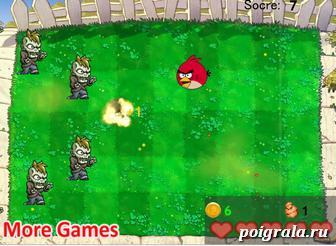 Картинка к игре Злые птицы против зомби