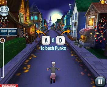 Картинка к игре Злая бабушка бежит хэллоуин