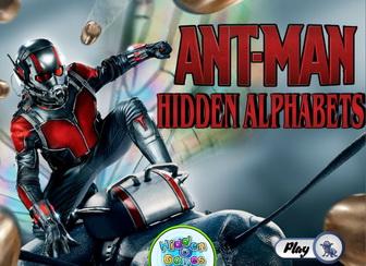 Игра Человек-муравей, скрытый алфавит
