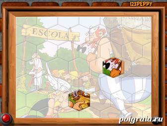 Картинка к игре Пазл: Астерикс и Обеликс идут в школу