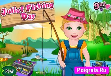 Игра Принцесса Джульетта на рыбалке