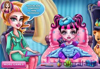 Картинка к игре Малышка Флу у доктора