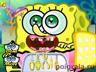 Картинка к игре Лечим зубы малышу Спанч Бобу