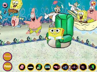 Картинка к игре Украшаем комнату малыша Губки Боба