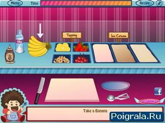 Картинка к игре Банановое мороженое