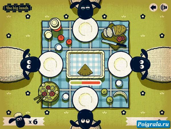 Картинка к игре Баранчик Шон обедает