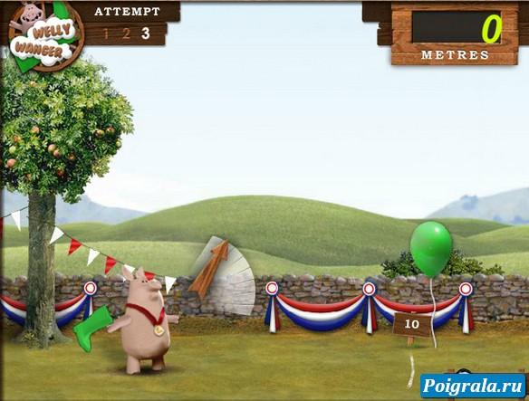 Картинка к игре Баранчик Шон, бросание сапога
