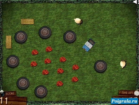 Картинка к игре Баранчик Шон, собери мусор