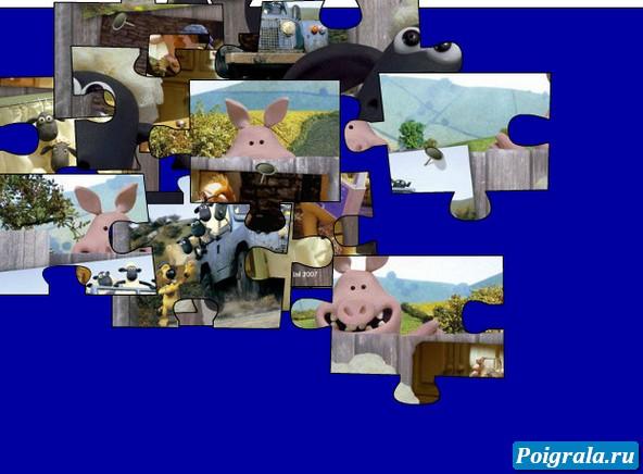 Картинка к игре Пазл с баранчиком Шоном