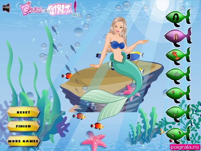Картинка к игре Барби русалка