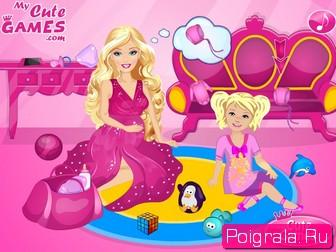 Картинка к игре Беременная барби рожает малыша