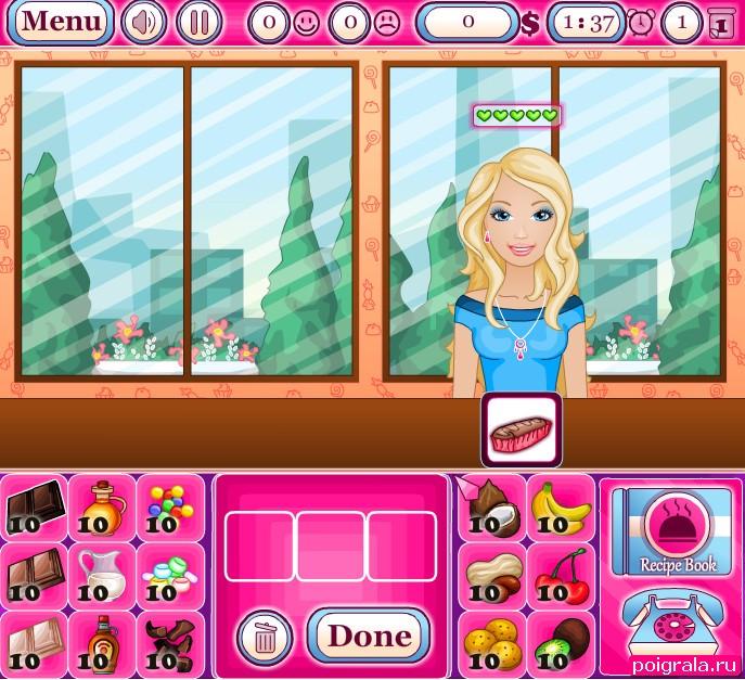 Картинка к игре Барби в магазине пироженых