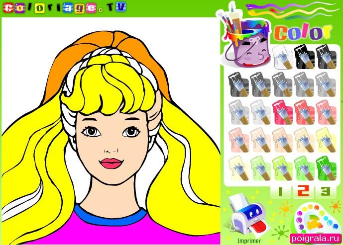 Картинка к игре Барби раскраска