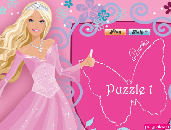 Игра Барби пазл