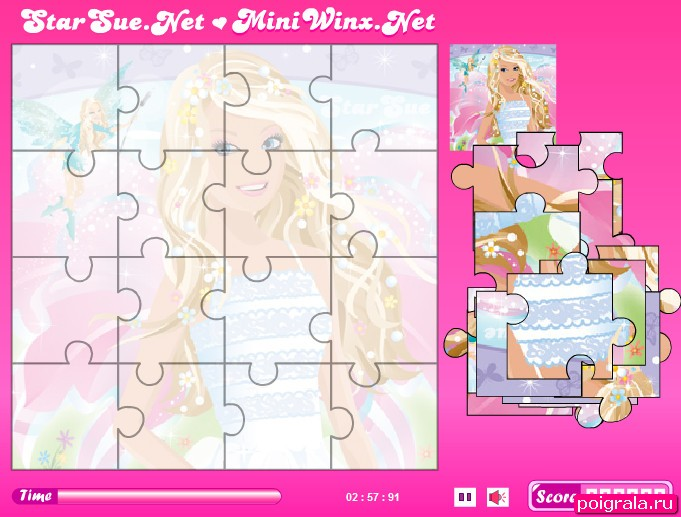 Картинка к игре Барби пазл
