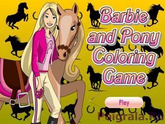 Раскраска девушки с лошадью картинка 1
