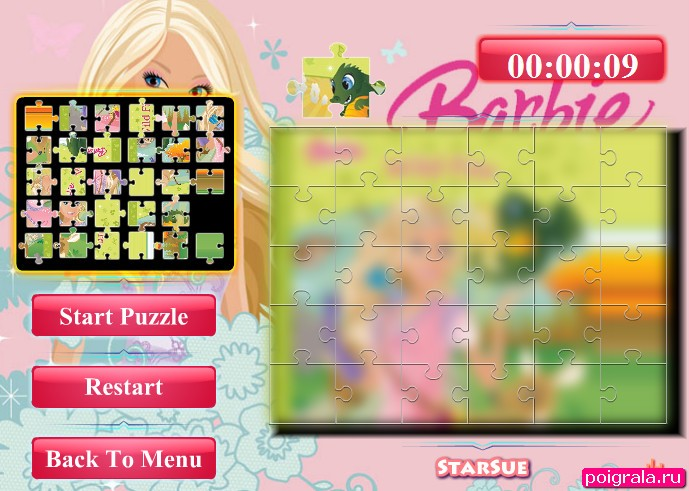 Картинка к игре Барби, коллекция пазлов