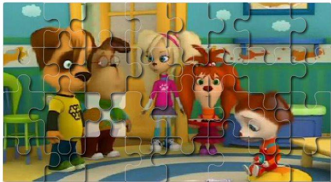 Картинка к игре Пазл с барбоскинами