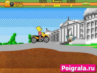Картинка к игре Барт на квадроцикле