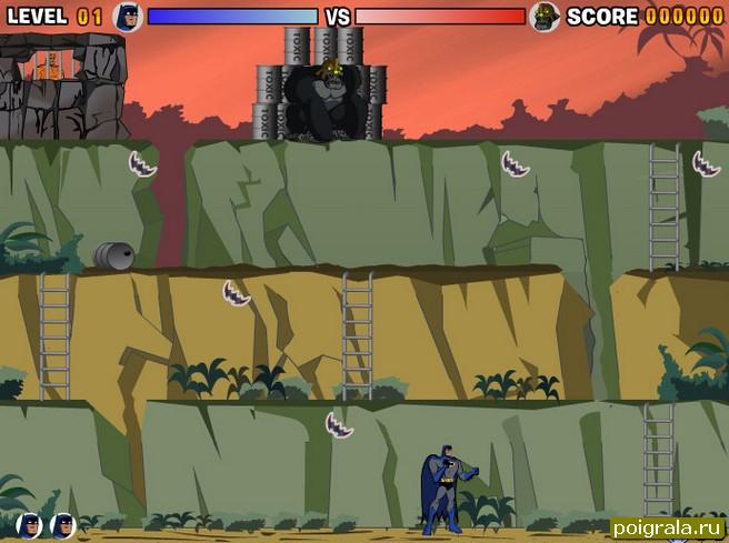 Картинка к игре Бетмен против гориллы