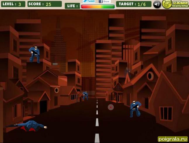 Картинка к игре Бетмен стрельба по врагам