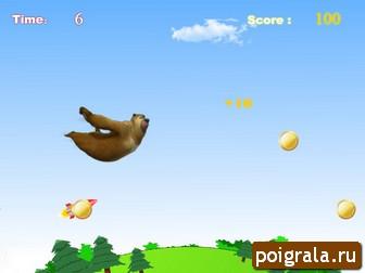 Картинка к игре Медведи соседи, полет на дальность