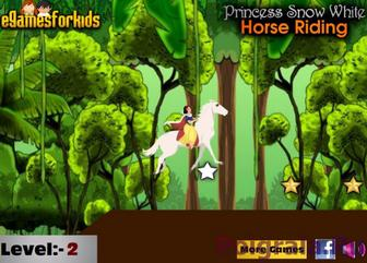 Картинка к игре Белоснежка и лошадь