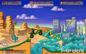 Картинка к игре Бен 10 гонки на джипе