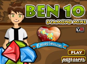 Игра Бен 10 собирает алмазы