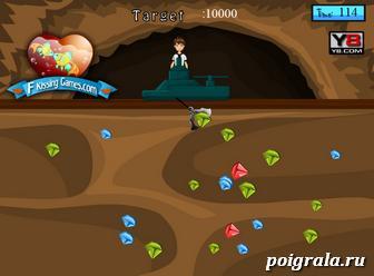 Картинка к игре Бен 10 собирает алмазы