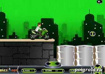 Картинка к игре Бен 10 гонки на мотоцикле