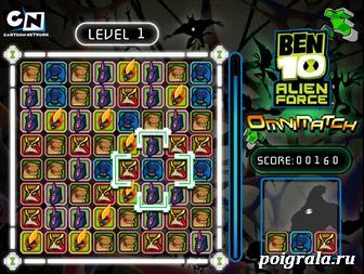 Картинка к игре Бен 10 3 в ряд
