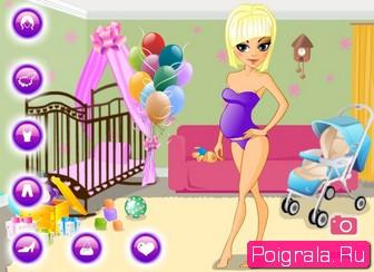 Игра Одевалка с беременной девушкой