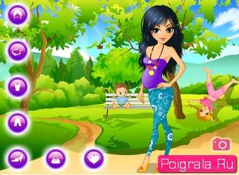 Картинка к игре Одевалка с беременной девушкой