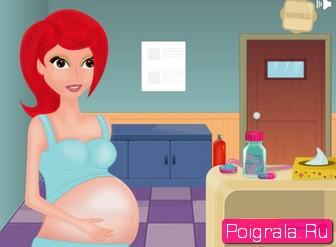 Картинка к игре Беременная мама рожает девочку