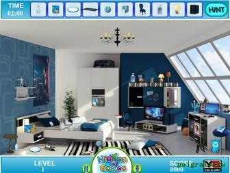 Игра Предметы в голубой комнате
