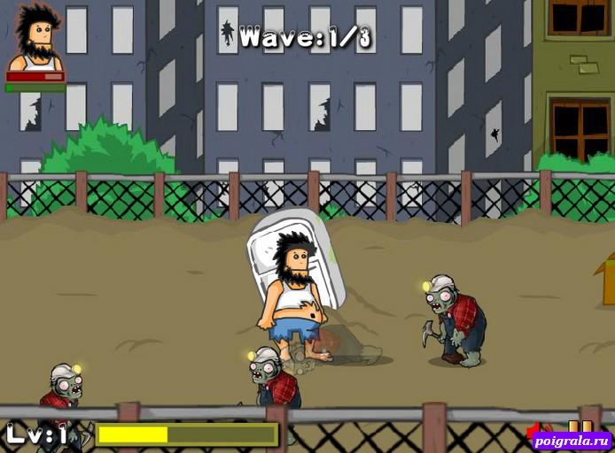 Картинка к игре Бомж Хобо против зомби