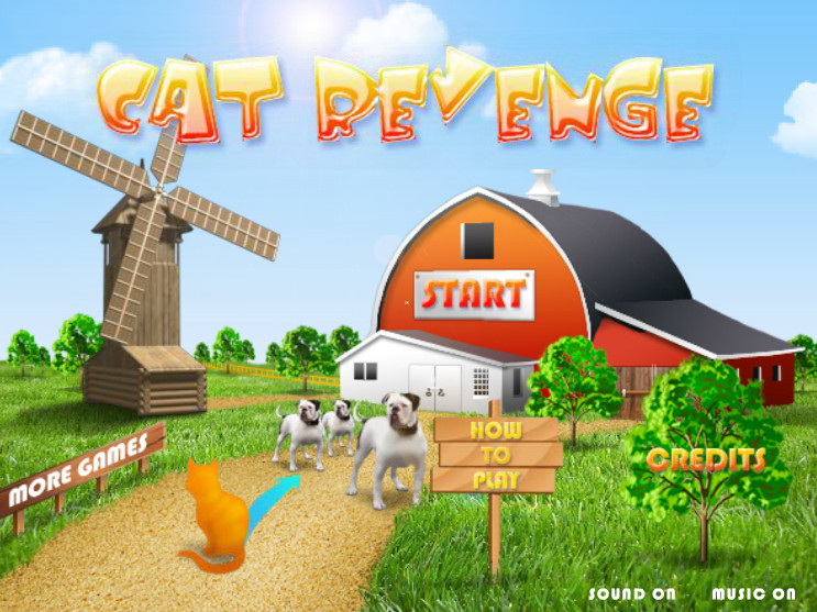 Игра Коты против собак