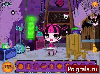 Картинка к игре Лентяйка Дракулаура в хелоуин