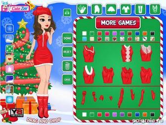 Картинка к игре Создай рождественскую девушку