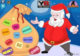 Картинка к игре Одевалка Деда Мороза